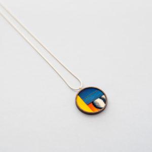 collier theo mosaïque de plumes inspiration mondrian